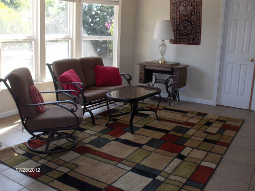 Winter will find throw rugs and area rugs throughout the entire tiled area.