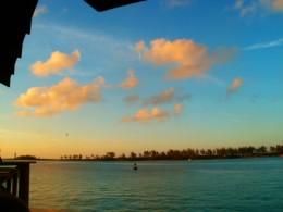 Dawn over the horizon.