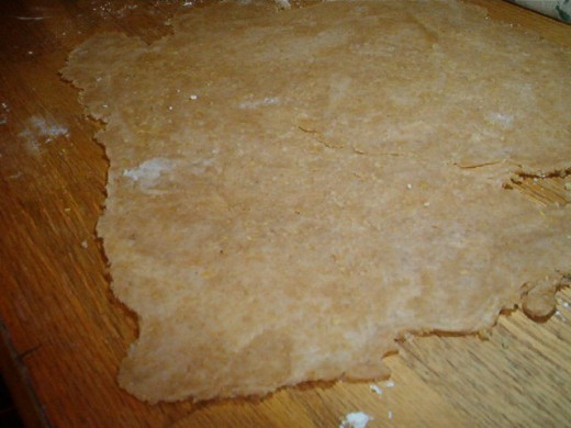 Pine nuts and wheat flour combine for a moist, tastey crust.