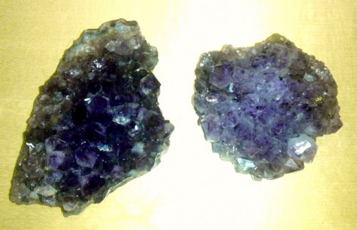 Large chunks of natural amethyst