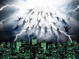 """The Biblical event to come is called the """"Rapture."""" the actual words for it in Scripture are """"caught up"""" when Jesus calls all believers and children home to Him in the air and the people left behind are caught off guard because they're not ready."""
