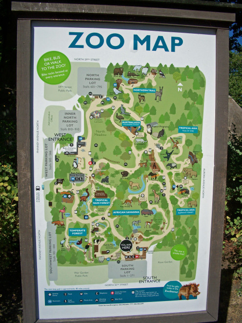 Map of Woodland Park Zoo