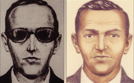 Artist Rendering of Hijacker D.B. Cooper