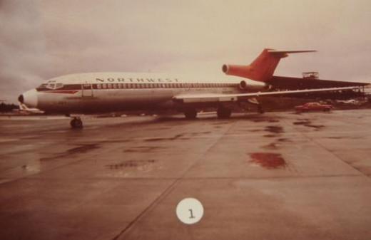 A Northwest Orient Boeing 727-51 Jet Aircraft