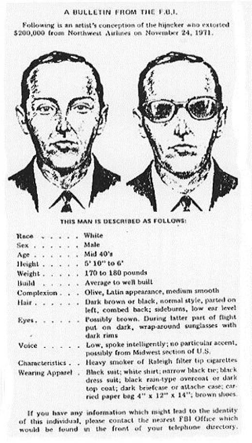 FBI Bulletin Describing Suspect Cooper