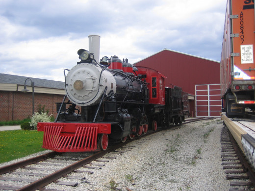 Steam Engine at the National Railroad Museum in Green Bay, Wisconsin