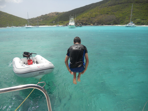 Taking  a break from sailing in the BVI