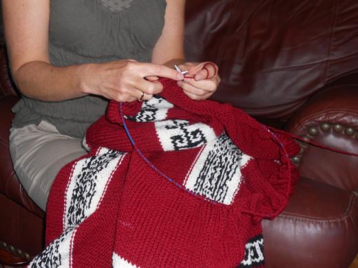 Learning ot knit is easy!