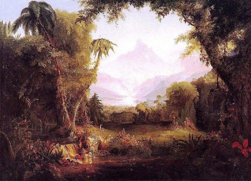 The Garden of Eden is a place of paradise depicted in the Bible created for Adam and Eve to live in harmony.