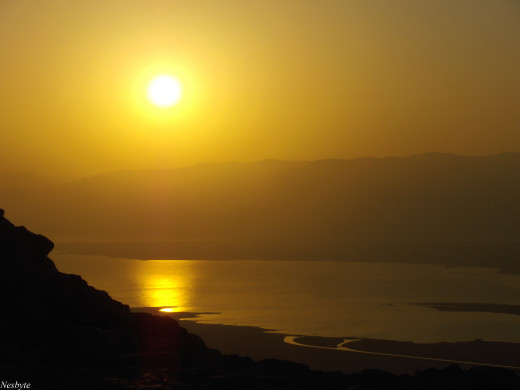 Sunrise from Masada.