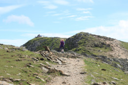 The view up to the top of The Old Man Of Coniston in the Lake District