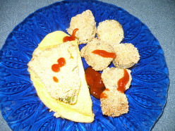 Squash Blossoms Omelet Plus Pan Fried Steak Recipe