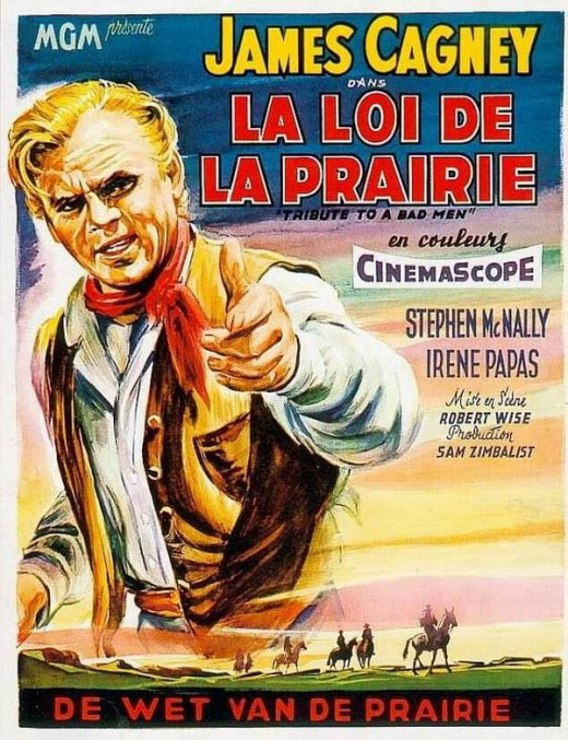 Tribute to a Bad Man (1956) Belgian poster
