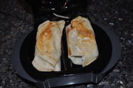 Once the tortilla is browned and the insides are warm, you are ready for a delicious meal!