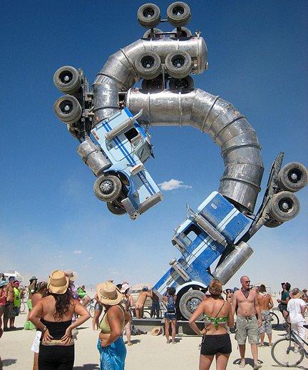 Burning Man Truckapillar