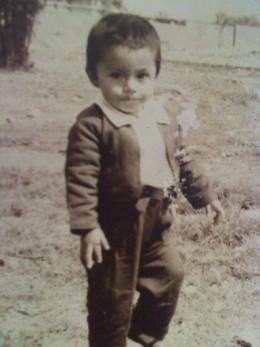 Joseph at 3 yrs old after done eating a banana