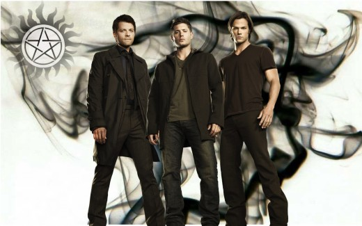 The Winchester boys and Castiel