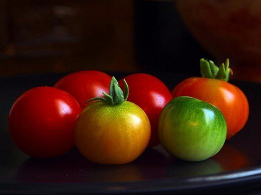 Delicious Spring sown cherry tomatoes.