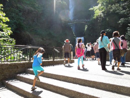 Entrance to Multnomah Falls, Oregon