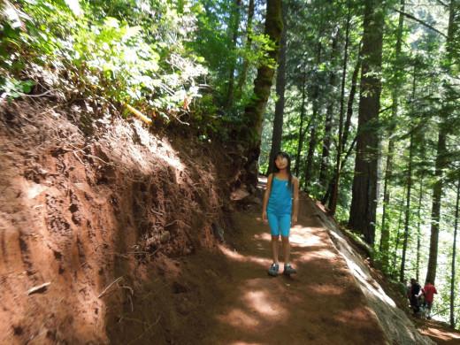 Dirt Path on Multnomah Falls Walking Trail
