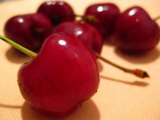 Cherries, packed with AHAs to keep skin young and smooth.  Photo placed into the Public Domain by Picdrome.