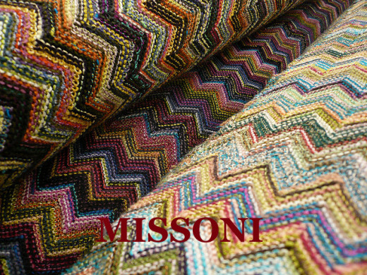 Missoni creations have a kaleidoscope of colors, unusual color combinations, zig-zags, lines, waves, patchworks, flowers, and flames Missoni has become a worldwide symbol of Italian style.