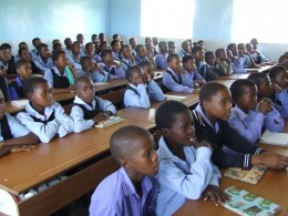 Children sitting in the classroom