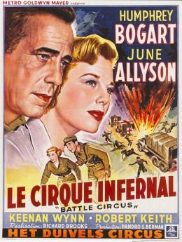 Battle Circus (1953) Belgian poster