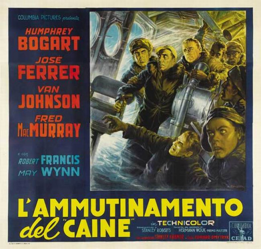 The Caine Mutiny (1954) Italian poster