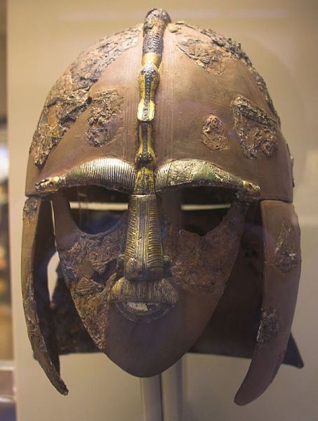 This helmet from Suton Hoo, the site of two 6th- and early 7th-century cemeteries, was photographed by Rob Roy on January 27, 2007.