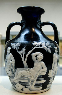 The photograph of the Portland Vase was taken by Marie-Lain Nguyen