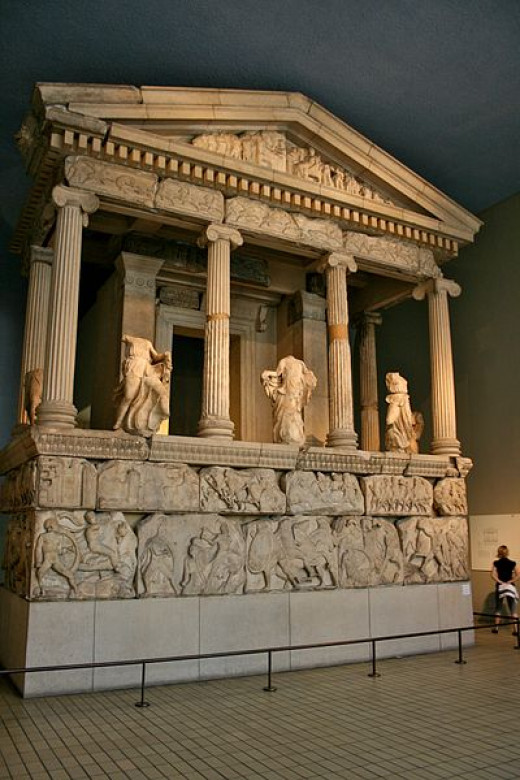 The Nereid Monument was photographed by Mike Peel on August 23, 2009.
