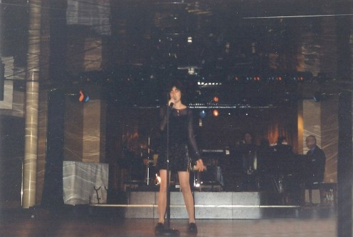 singing at a cruise talent show