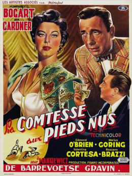 The Barefoot Contessa (1954) Belgian poster