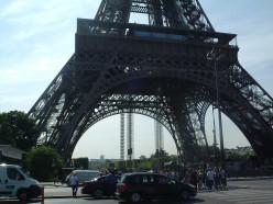 The 4 feet of the Eiffel Tower & the 1st floor