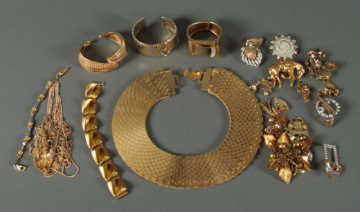 Various gold jewelry