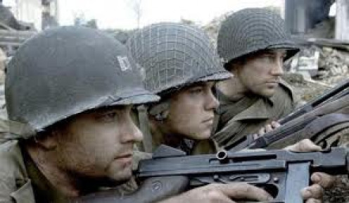 Saving Private Ryan starred Tom Hanks and was based on WW 2. This film has some very graphic war scenes.