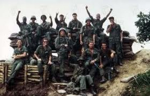 Hamburger Hill is a very popular war film that was made in the 1980s. It shows many of the horrors of war and, it has a great soundtrack.