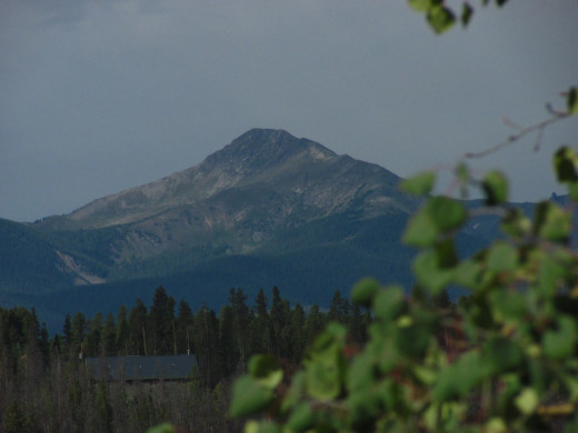 A great look at Buyers Peak in Grand County, CO which could be seen from where I was fishing on Ranch Creek.