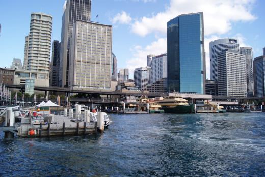 Circular Quay is located in the Sydney CBD.