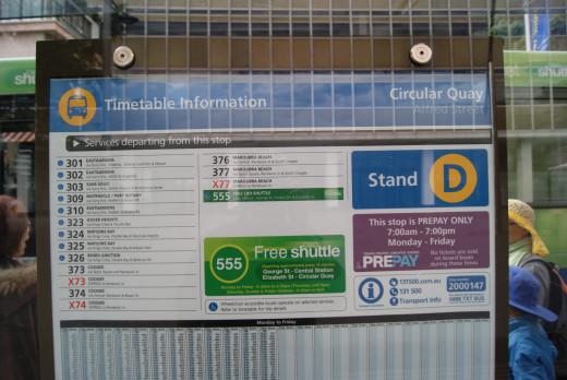 Sydney Bus Timetable