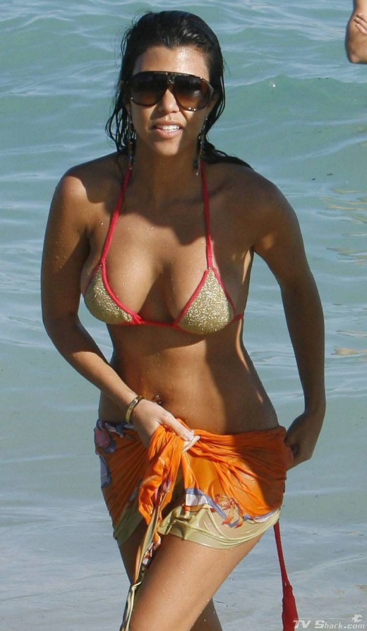 Kourtney Kardashian did have some work done on her breasts.
