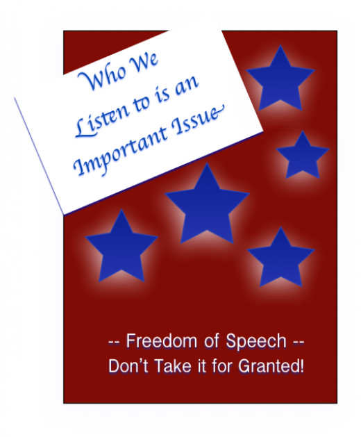 Those we listen to will be heard in our speech.