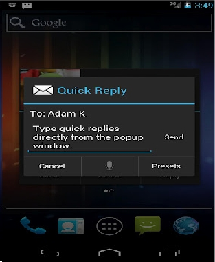 SMS Popup app
