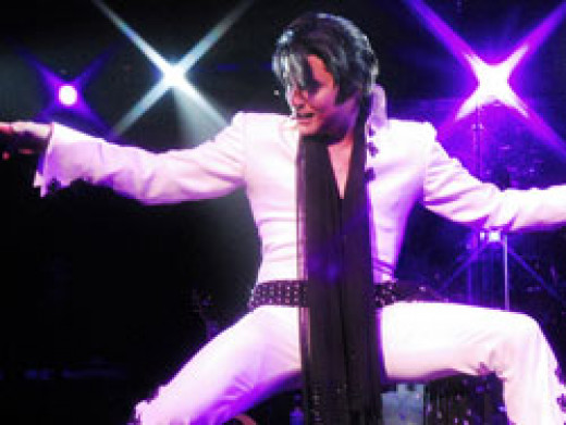 Trent Carlini, an Elvis Tribute Artist pretty much has the persona nailed. It's a great show!