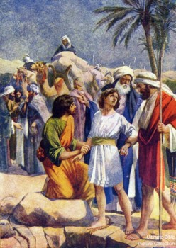 Joseph being sold into slavery