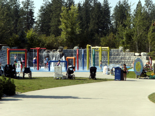 The kiddie area of Silverwoods water park