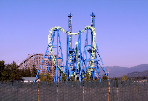 Last but not least, the newest member of the park; the Aftershock coaster.