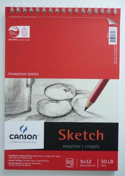 As a new painter, a blank canvas can be intimidating. A sketch pad is a good way to do a 'rough draft' of your painting before you work with your paints on the canvas.