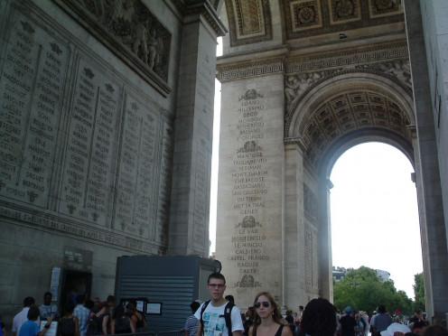 Inside L'Arc de Triomphe